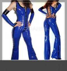 Fourreau costume latex brillant avec son style moderne [#M1408116598] - modanie