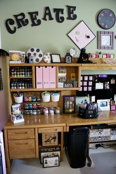 Organize Conquer Clutter Beautify your Home: The Tour; This rooms is so great, so organized and practical yet attractive.