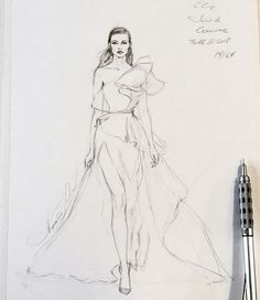 Image may contain: 1 person, drawing Dress Design Drawing, Dress Design Sketches, Fashion Design Sketchbook, Dress Drawing, Fashion Design Drawings, Fashion Figure Drawing, Fashion Drawing Dresses, Fashion Illustration Dresses, Fashion Model Sketch