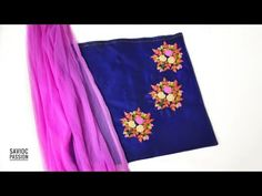 Floral Embroidery on Kurti Neck || Hand Embroidery || Tutorial || Easy to Learn - YouTube Saree Embroidery Design, Floral Embroidery, Embroidery Patterns, Passion Work, Anchor Threads, Hand Embroidery Tutorial, Kurti Neck, Tapestry, Learning