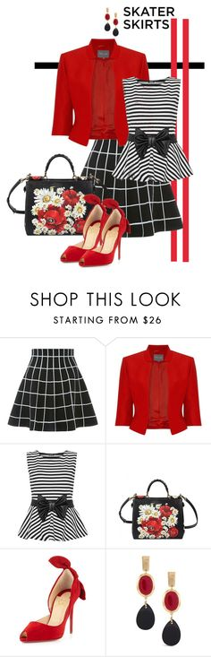 """""""Untitled #3804"""" by barones-tania ❤ liked on Polyvore featuring Phase Eight, WearAll, Dolce&Gabbana, Christian Louboutin and Chico's"""