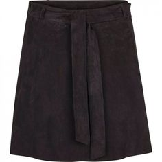 Rut wide suede skirt