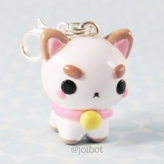 A cute angry cat Polymer Clay Kunst, Polymer Clay Kawaii, Polymer Clay Animals, Polymer Clay Charms, Polymer Clay Creations, Clay Cats, Cute Clay, Clay Figures, Sculpture Clay