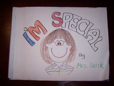 'I am Special' #kid made book for all about me theme