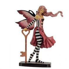 Part of a set of this Key fairy figurine by Amy Brown is part of the Key Fairy Set of Amy Brown Fairysite figurines. Each fairy collectibles in the set focuses around a felling or goal. This Key fairy has the Key to Your Heart. Dragon Figurines, Fairy Figurines, Amy Brown Fairies, Dark Fairies, Fairy Gifts, Fairy Pictures, Fairy Clothes, Fairy Jewelry, Fairy Art