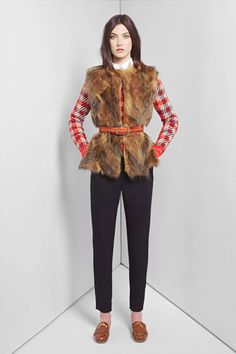 Chloe, a real life outfit.  Love the layering, the bright colored mixed with the fur. Oh, and the shoes.  Everything.