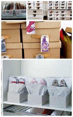 Você tem mais sapatos do que espaço para guardá-los? Separamos algumas ideias simples para organizar sapatos, que você mesma pode fazer aí no seu cantinho!