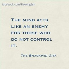 Your mind is your own enemy