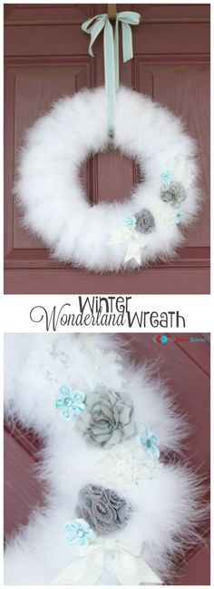 Winter Wonderland Wreath - The Ribbon Retreat Blog