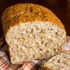 Cracked Wheat Bread - an easy, whole wheat yeast bread. Perfect for sandwiches or french toast. (Baking Bread Whole Wheat) Cracked Wheat Bread Recipe, Bread Machine Wheat Bread Recipe, Bread Machine Recipes, Yeast Bread, Healthy Bread Recipes, Cooking Recipes, Healthy Breads, Side Recipes, Yummy Recipes