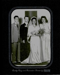 This was my parent's wedding picture, jake Willis Nigro & Sarah Repurta Mora, best man, Fred Mora, Jr and his wife Ida Marie Romero Mora. They got married in Denver, Colorado in 1944. Fred Willis Nigro