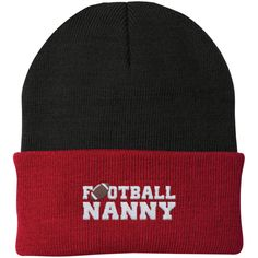 Football Nanny - Embroidered Beanie