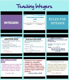 once students understand how integers are represented by each model, you can present the operations for the integers in the form of a problem. Rather than showing students how to solve exercises with the models, you pose an integer computation and let students use their models to find a solution.