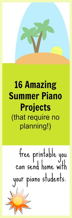 Send this home with students and they'll continue their piano practice happily all summer!  #SummerPiano #PianoTeacherMaterials