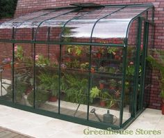 Halls Silverline Green 6x10 Lean to Greenhouse - 3mm Toughened Glazing  http://www.greenhousestores.co.uk/Halls-Silverline-Green-6x10-Lean-To-Greenhouse-3mm-Toughened-Glazing.htm
