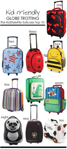 Happy Travelling These Holidays With KidStyleFile's Kids Luggage Round Up