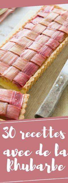 Découvrir 30 recettes avec de la rhubarbe