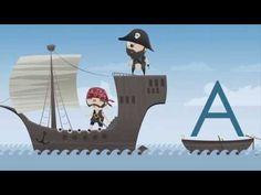 ▶ Kinder lernen die ABC Buchstaben mit den ABC Piraten. - YouTube