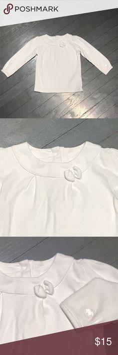 Baby Cottons white pima cotton bow long sleeve Baby Cottons white pima cotton bow long sleeve blouse shirt Barneys New York Shirts & Tops Tees - Long Sleeve