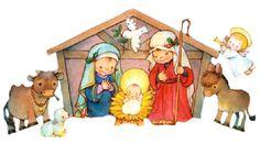 Pesebres | Belén | Nacimiento de Jesús | cute imágenes para bajar | tamaño grande | art collection Art Illustration