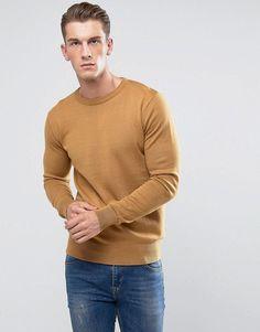 Brave Soul Crew Neck Sweater - Tan