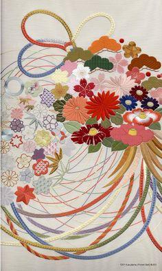 """Japanese embroidery """"Kusudama"""""""