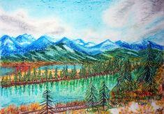 Cum pictam un mar in pastel – Comparatie pasteluri - Curs Pictura Mai, Pastel, Drawings, Nature, Paintings, Artists, Cake, Naturaleza, Paint