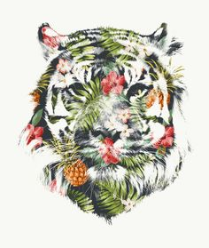 """Tropical tiger"" Art Print by Robert Farkas on Society6."