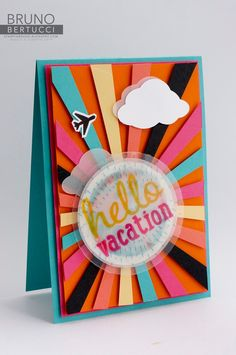 Bruno Bertucci | Stampin Up | Lets Get Away | Project Life Cards | Handmade Card