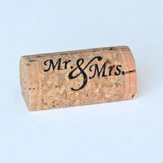 Custom Printed Wine Cork Place Card Holders  Mr by CorkeyCreations, $25.00