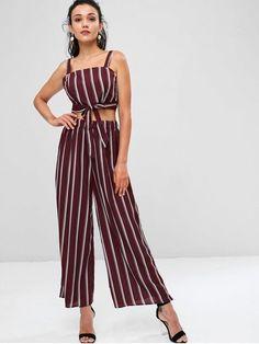 e5a8e8c958c684 Striped Zip Top and Wide Leg Pants