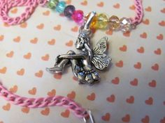 GIRLS 14 Inch Sitting FAIRY CHARM NecklaceOther Charms: Bunny Rabbit Puppy Dog Pegas Horse Horse Rocking Horse Heart Kitty Cat Fairy (6.59 USD) by Igottahaveitnecklace