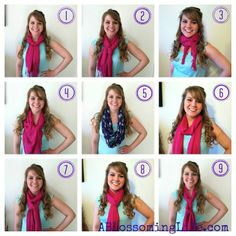9 Ways to Tie a Scarf! #DIY