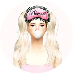 Female sleep eye mask at Marigold via Sims 4 Updates