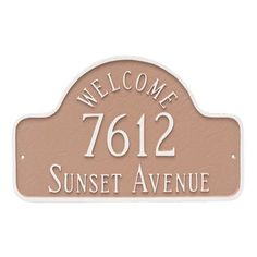 Montague Metal Products Welcome Arch Address Plaque Finish: Brick Red/Gold