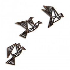 3D-Objekt 3er-Set im Origami-Look als Wanddeko #urbanjungle