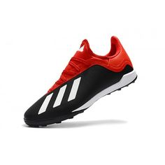 adidas X TF Svarta Röd Vita Fotbollsskor Konstgräs Soccer Shoes, Soccer Cleats, Indoor Soccer, Adidas Football, Sneakers Nike, Style, Hair Job, Tennis, Football Art