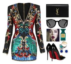 """""""Untitled #29"""" by fashionxx101 ❤ liked on Polyvore featuring Tom Ford, Balmain, Christian Louboutin, Dolce&Gabbana, Yves Saint Laurent, Karen Walker, out, dolceandgabbana, evening and TOMFORD"""