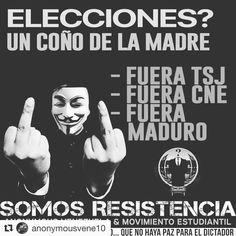 #Repost @anonymousvene10 with @repostapp  ESTA MIERDA COMENZÓ PUDIENDO LA RENUNCIA DEL TSJ PERO LOS HDP POLÍTICOS HOY PIDEN ELECCIONES PORQUE YA NEGOCIARON MALDITOS COÑOS.. Por eso se le ha bajado la intensidad a las convocatorias dejando un vacío entre días cambiando ahora el lenguaje TODOS PIDEN ELECCIONES TODOS PIDEN UNA SALIDA ELECTORAL. PARA QUE? PORQUE SE LES OLVIDO LA RENUNCIA DE EL TJS? SE LES OLVIDO QUE EL CNE ESTAS CONTROLADO POR EL MAL PARIDO DE MADURO?