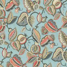 Waverly Fantasy Fleur Seaglass Fabric