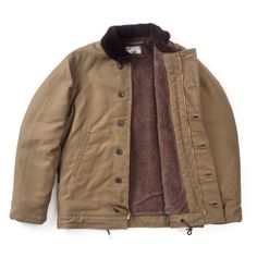 """<p class=""""p1""""><span class=""""s1"""">The N-1 jacket was originally designed in the mid-1940s. The material for the outer shell is durable grosgrain cotton and the lining is a double-faced alpaca.</span></p> <p class=""""p1""""><span class=""""s1"""">An iconic jacket produced to the highest spec by The Real McCoys.</span></p>"""