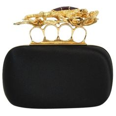Pre-owned Alexander Mcqueen Silk Salamander Knuckle Box Black Clutch (€1.315) ❤ liked on Polyvore featuring bags, handbags, clutches, purses, black, silk handbags, alexander mcqueen handbags, hard clutch, preowned handbags and alexander mcqueen purse