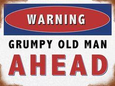GRUMPY OLD GIT Old Man/'s Leather Wallet WARNING