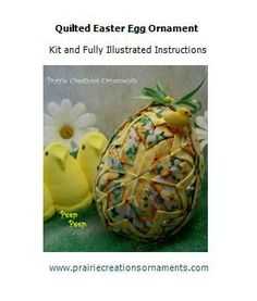 Quilted Ornament Easter Egg with Chick Kit by MyPrairieCreations