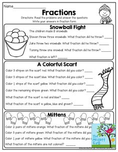 Fractions with word problems. Tons of great printables!