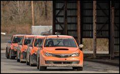 Ready... Set... Rally! DirtFish Subaru STi Rally Car Lineup.
