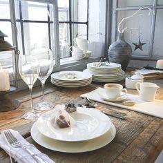 Elegantes Tafelservice in Weiß: Qualität aus Porzellan von VILLEROY & BOCH