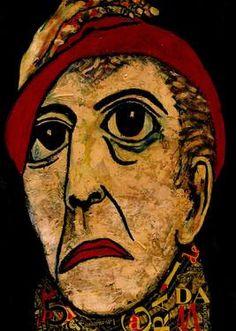 "Saatchi Art Artist CARMEN LUNA; Painting, ""25-RETRATOS Expresionistas. Vincent  I"" #art http://www.saatchiart.com/art-collection/Painting-Assemblage-Collage/Expressionist-Portrait/71968/51263/view"