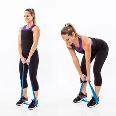 Grab a resistance band and try these 7 sculpting moves to tighten up your tush.