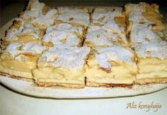 Krémes-túrós pite Hungarian Cuisine, Hungarian Recipes, My Favorite Food, Favorite Recipes, Eastern European Recipes, Czech Recipes, Baking And Pastry, Cheap Meals, Cakes And More